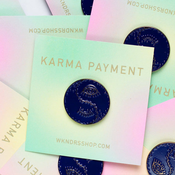 Karma Payment*Blue Pin