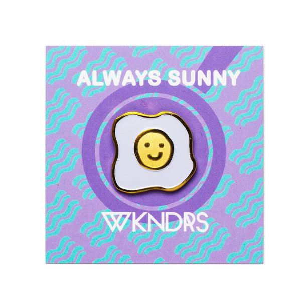 Always Sunny*Gold Pin