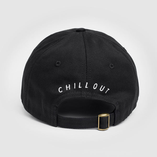 Chill Out Embroidered * Black Baseball Hat