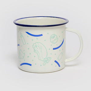 Hot Doggin' Enamel Camp Mug
