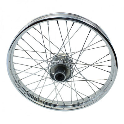 "Moto Iron - Chrome Front 40 Spoke Wheel 21 ""x 2.15"" fits Harley FXST, FXDWG, 1984-1999 fits Moto Iron Springers"