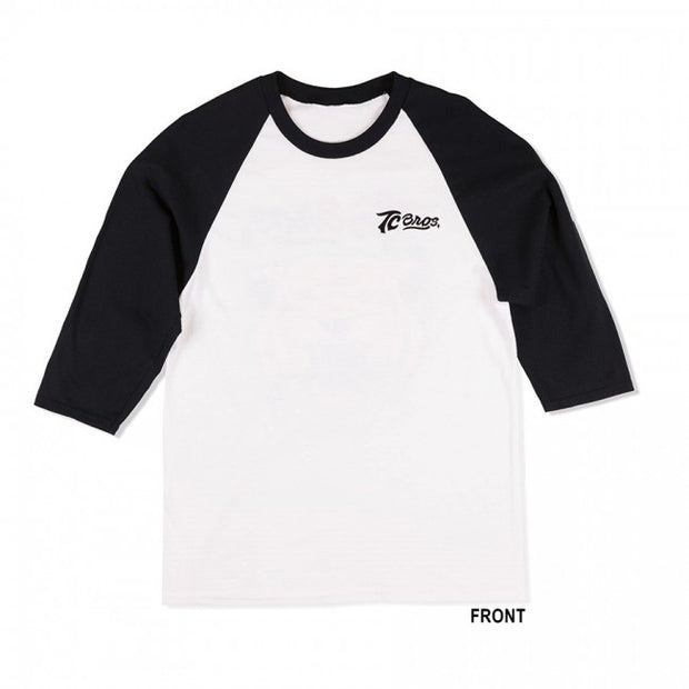 TC Bros- Tiger Raglan - White/Black