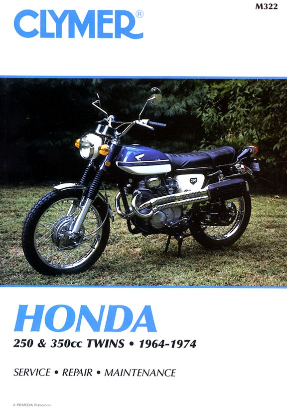 CLYMER REPAIR MANUAL - HONDA CB350 CL350 REPAIR