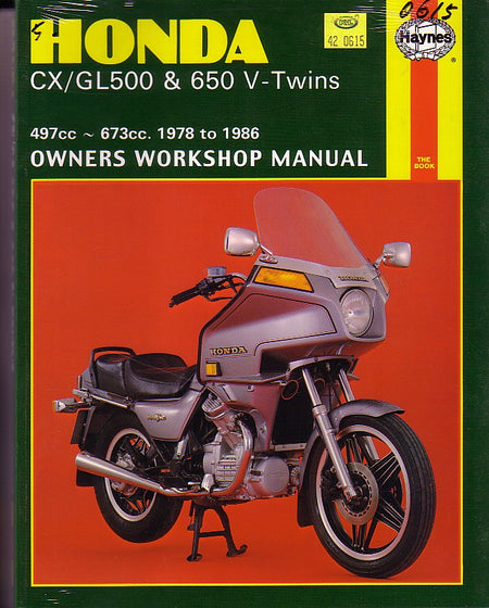 HAYNES - HONDA CX500 GL500 REPAIR MANUAL 1978 - 1986