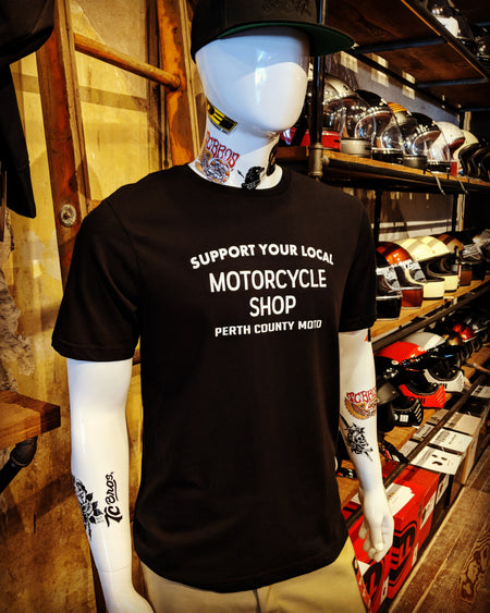 Perth County Moto - Support Your Local Motorcycle Shop Tee