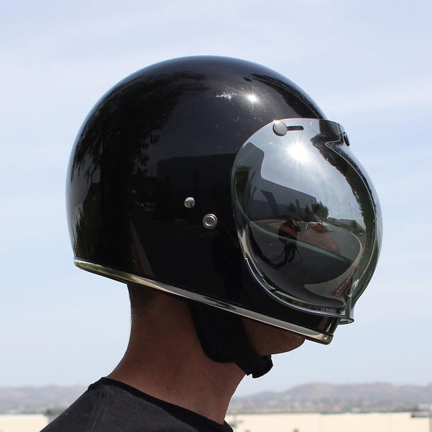 Biltwell Bubble Shield - Chrome Mirror