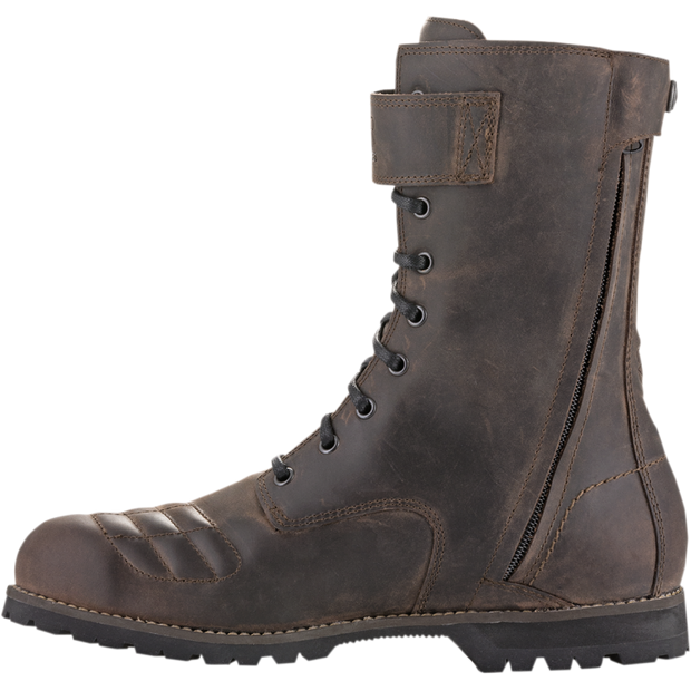 Alpinestars Oscar Firm Drystar Boots - Dark Brown Oiled