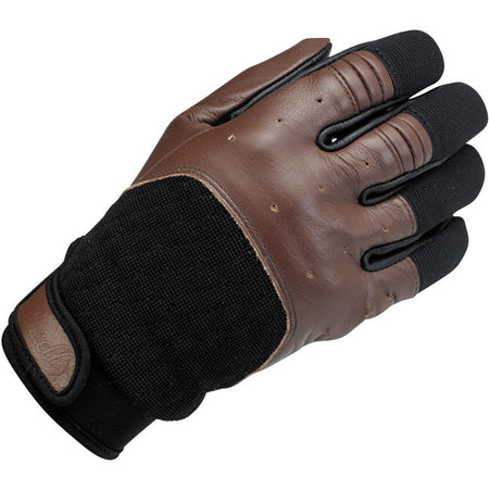 Biltwell-BANTAM GLOVES - CHOCOLATE/BLACK