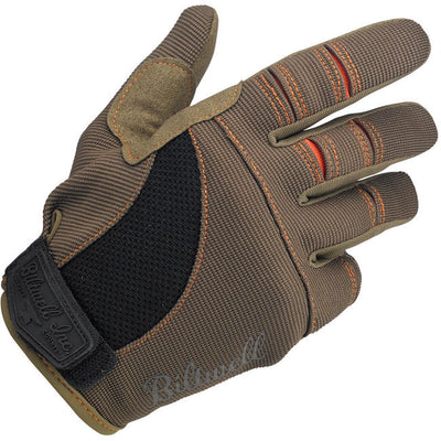 Biltwell-MOTO GLOVES - BROWN/ORANGE