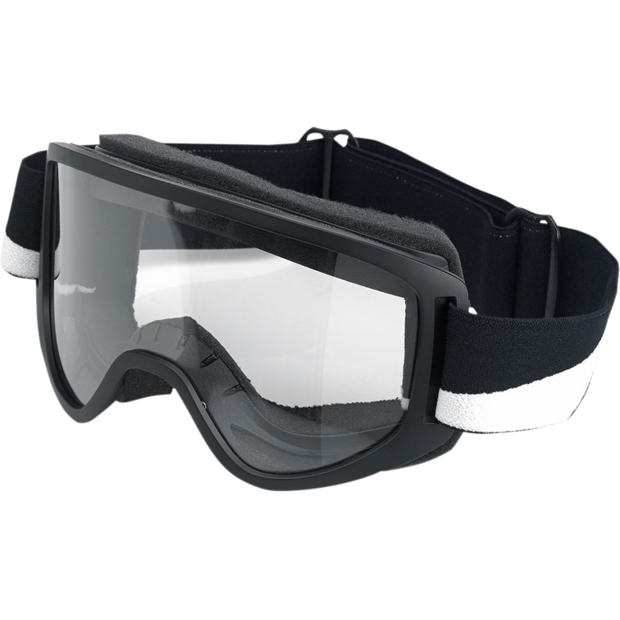 Biltwell Moto 2.0 Goggles - Lightning Bolt Black/White