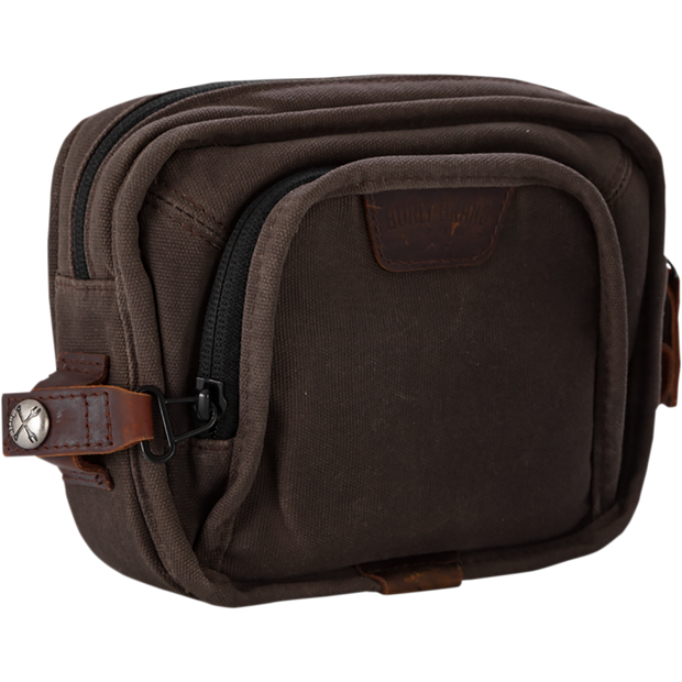 Burly Brand Handlebar Bag - Dark Oak Waxed Cotton