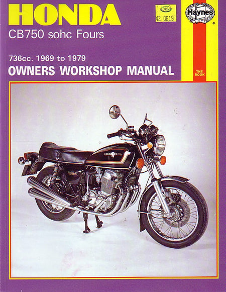 HAYNES REPAIR MANUAL - HONDA CB750  1969 - 1979