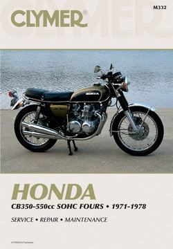 CLYMER REPAIR MANUAL - HONDA CB350F CB400F CB550F