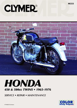 Clymer -  Honda 450cc and 500cc Twins 1965-1976 Repair Manual