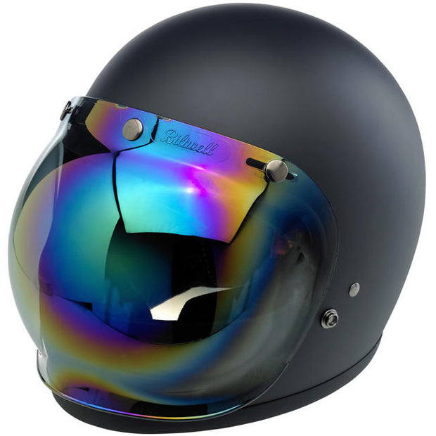 Biltwell Bubble Shield - Rainbow Mirror