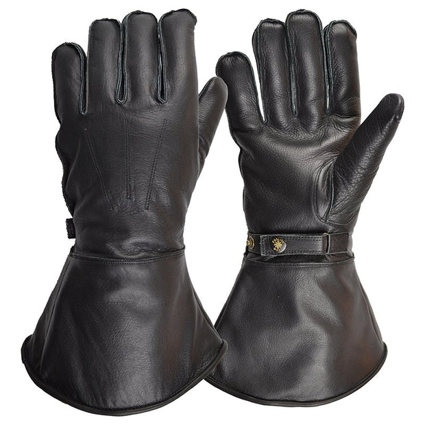 Goldtop England Sheepskin Lined Gauntlet - Black