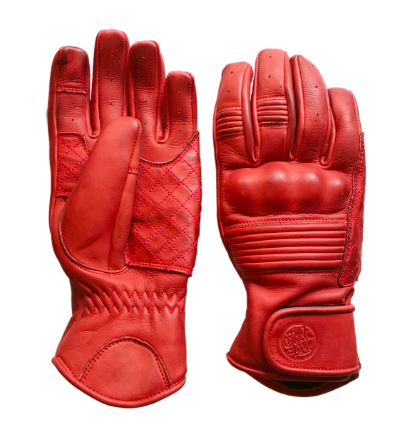 Black Arrow Queen Bee Motorcycle Gloves - Red