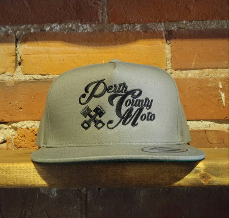 *Perth County Moto - Piston Snapback (Grey)