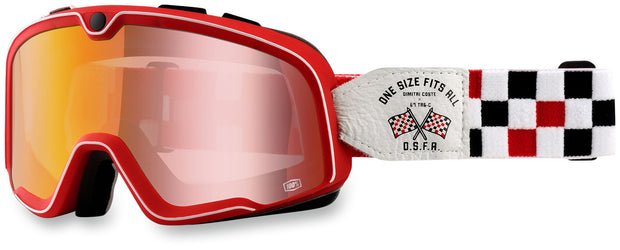 100% Barstow Goggles - OSFA 2 Red Mirror Lens