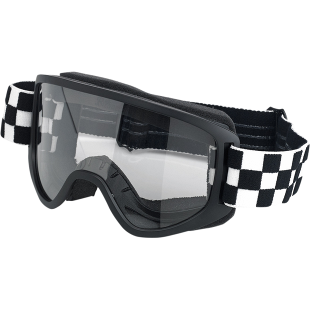 Biltwell Moto 2.0 Goggles - Checkerboard Black/White