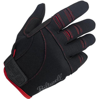 Biltwell - Moto Gloves Black/Red