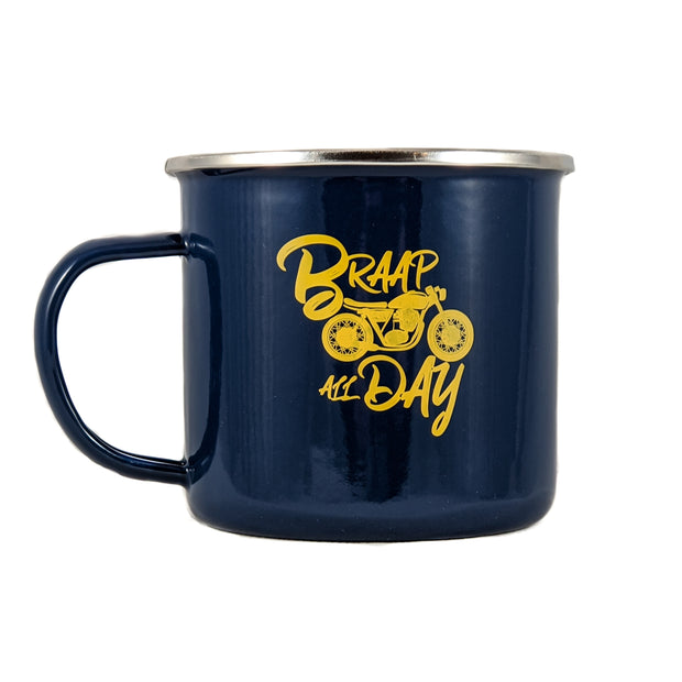 Perth County Moto Metal Braap All Day Camping Mug