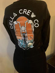 Della Crew Co. Get A Grip Long Sleeve Tee - Black