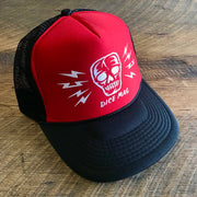 DICE Skull and Bolts Trucker Hat - Red