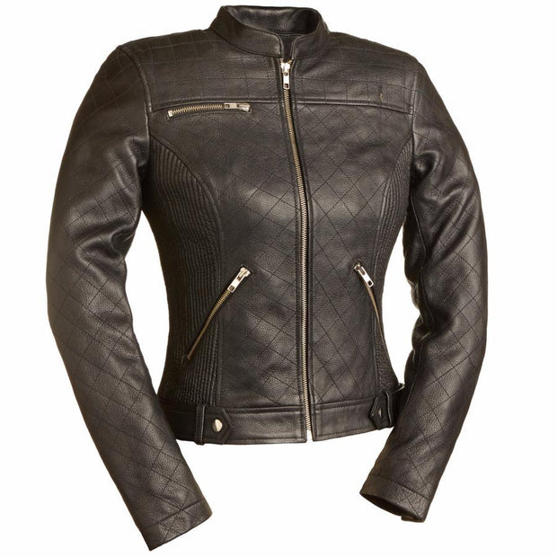 First Manufacturing Quilted Leather Jacket - Black