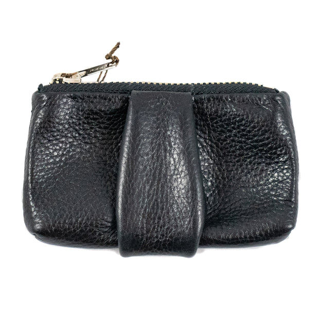 Haversack Leather Coin Pouch - Black