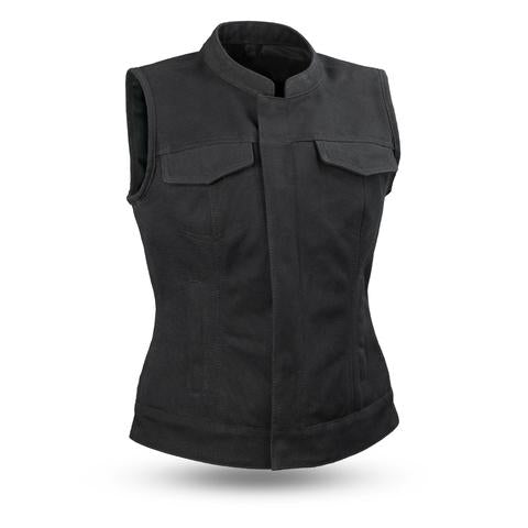 Perth County Moto - Margerite Canvas Vest