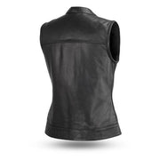 Perth County Moto Marguerite Leather Vest