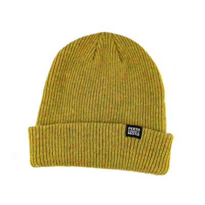 Perth County Moto Wool Watchman Toque - Mustard
