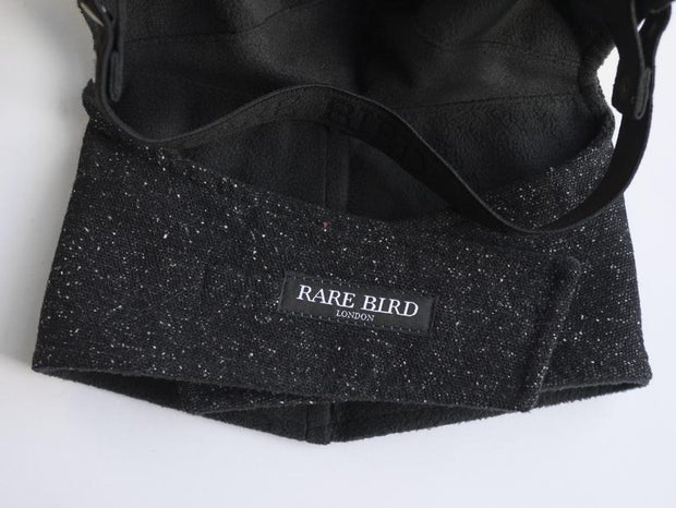 Rare Bird London Black and Dots Tweed Face Mask