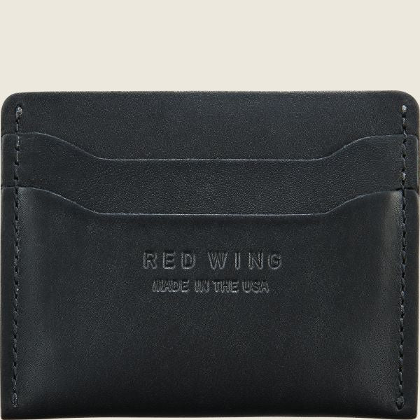 Red Wing Card Holder - Black Frontier Leather
