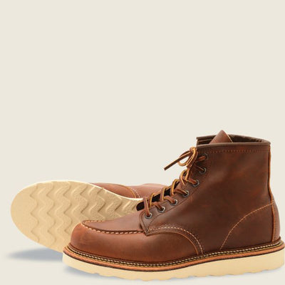 Red Wing Shoes Men's Classic Moc 6 Inch - Copper Rough and Tough