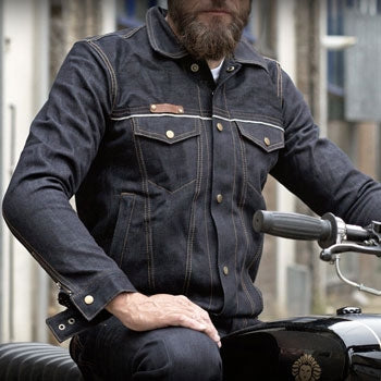 Resurgence Gear Selvage Denim Riding Jacket - Blue