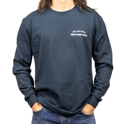 Perth County Moto Ride Chop Repeat Long Sleeve Tee