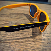Perth County Moto Sunglasses - Black/Orange