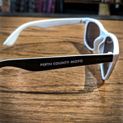 Perth County Moto Sunglasses - Black/White