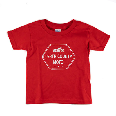 Perth County Moto Kids Classic Tee - Red