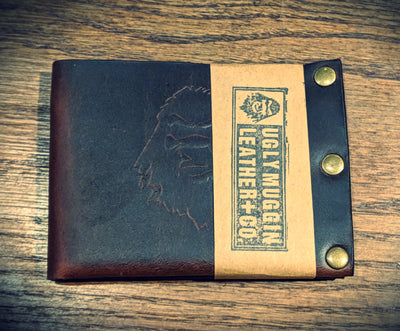 Ugly Muggin Leather & Co. - The Degenerate Bi-Fold Wallet (Brown)