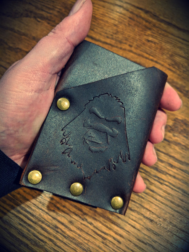 Ugly Muggin Leather & Co - The Dime Bag Card Wallet (Black)