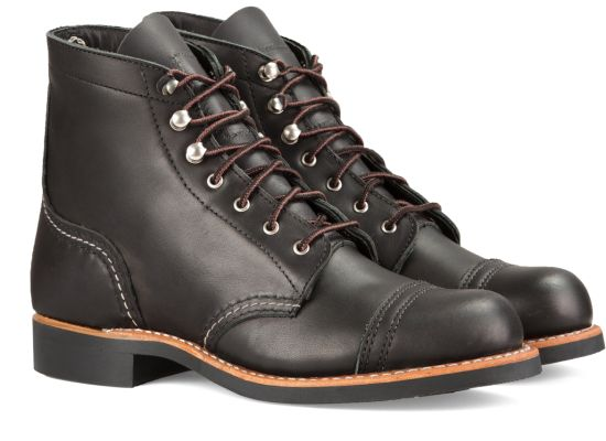Red Wing Shoes - Iron Ranger Black Boundary Leather (Ladies)