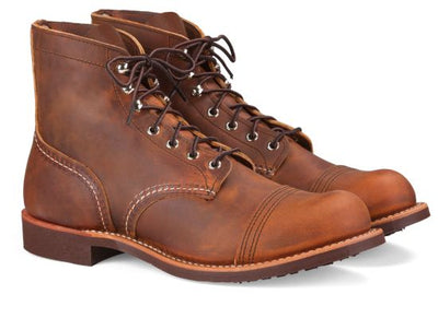 Red Wing Shoes Men's Iron Ranger - Copper Rough and Tough Leather