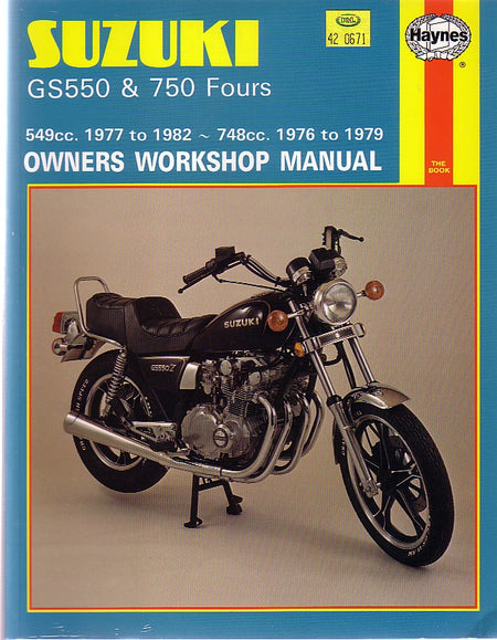 HAYNES WORKSHOP MANUAL - SUZUKI GS550 GS750  1977 - 1982