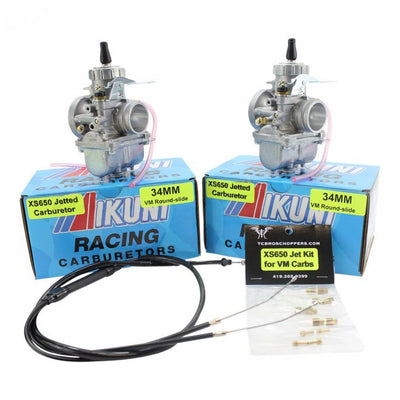 Mikuni - XS650 Mikuni VM Roundslide 34mm Performance Carb Kit Tuned By TC Bros