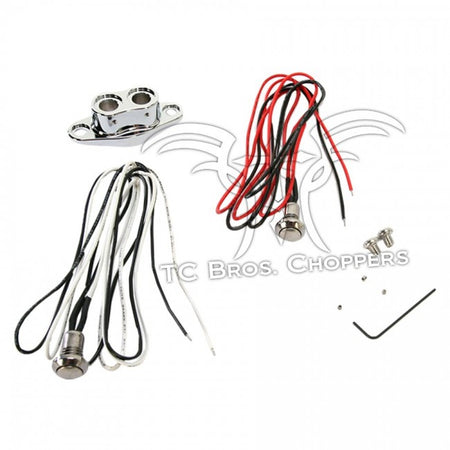 TC Bros-Chrome Dual Handlebar Button Switch Kit
