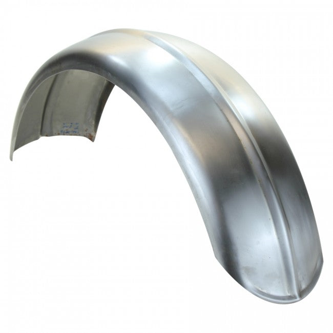 "TC Bros. - 7.5"" Wide Raw Steel Ribbed Bobber Fender"