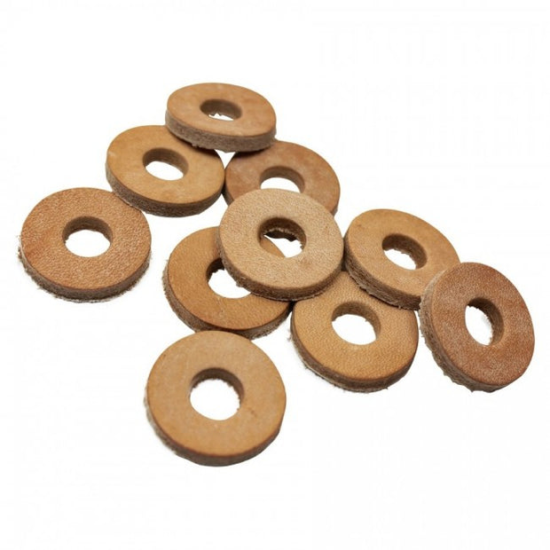 TC Bros.-Leather Cushion Washers with 3/8 inch Hole 10 pack